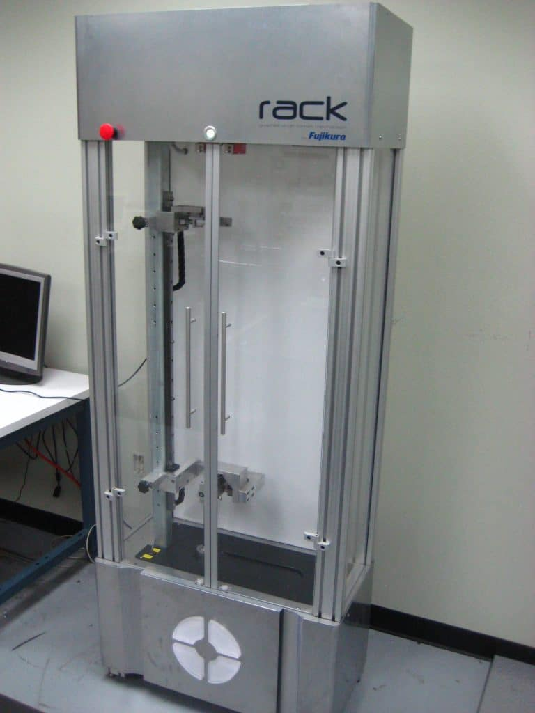 Fujikura Develops the Rack Durability Machine