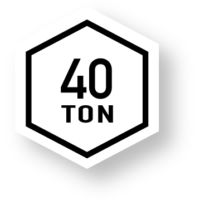 40 Ton Badge